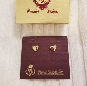 "Premier Designs ""Have a Heart"" Stud Earrings - New!"